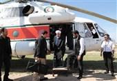بازدید هوایی رئیسجمهور از مناطق سیلزده جنوب سیستان و بلوچستان / روحانی به کانون بحران سیل رفت + فیلم