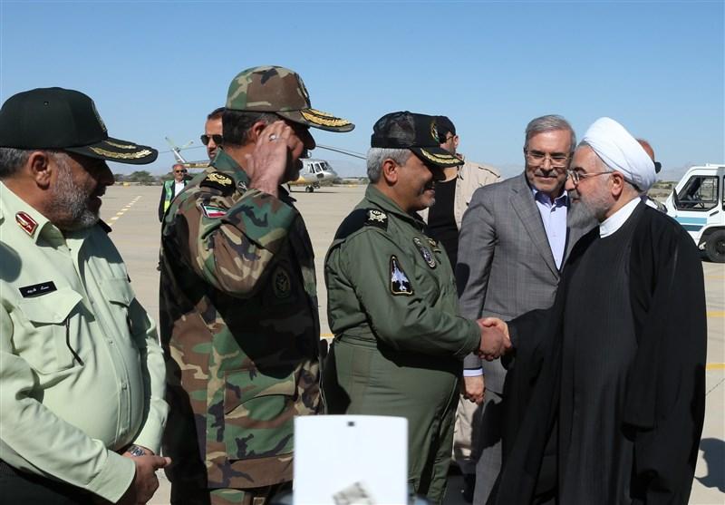 رئیس جمهور وارد چابهار شد / روحانی از منطقه عورکی دشتیاری بازدید میکند
