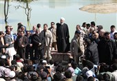 President Rouhani Visits Flood-Hit SE Iran (+Video)