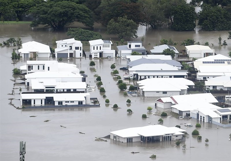 بارش شدید باران و جاری شدن سیل در استرالیا +تصاویر