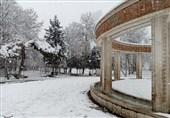 بارش برف در کرج به روایت تصویر