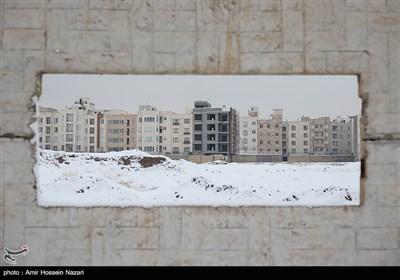 بارش برف در قزوین