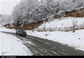 بارش برف و باران در جادههای 8 استان