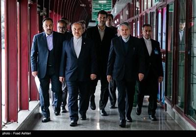 حضور مسعود سلطانی فر وزیر ورزش و سیدرضا صالحی امیری رئیس کمیته ملی المپیک در چهل و هفتمین مجمع عمومی کمیته ملی المپیک
