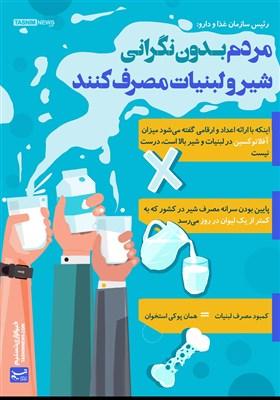 اینفوگرافیک/ مردم بدون نگرانی شیر و لبنیات مصرف کنند