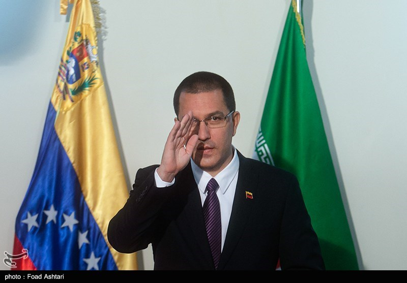 نشست خبری خوخه آرئاسا وزیر امور خارجه ونزوئلا