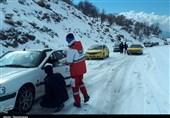 امدادرسانی به 20000 نفر و توزیع بستههای غذایی و پتو به راهماندگان در جادههای برفی