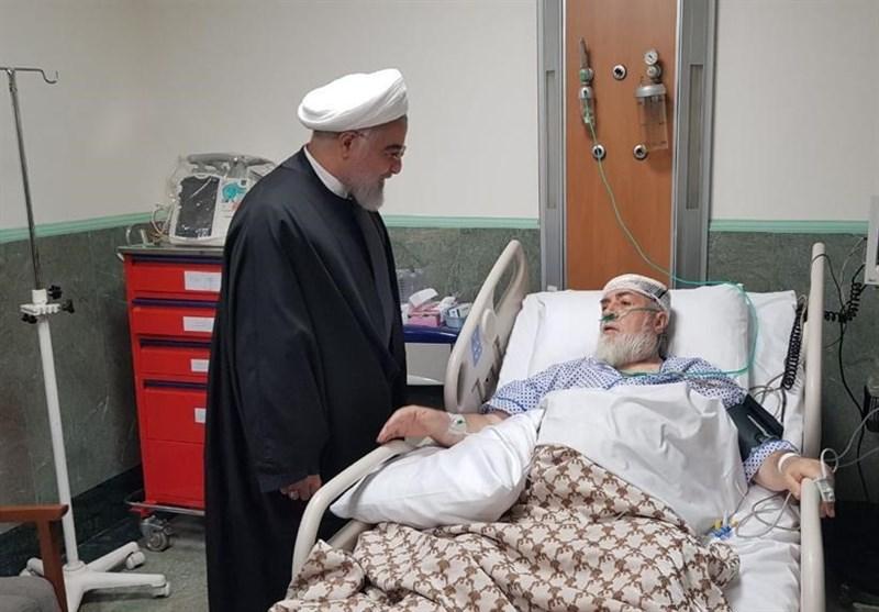 رئیس جمهور از حجتالاسلام شهیدی عیادت کرد