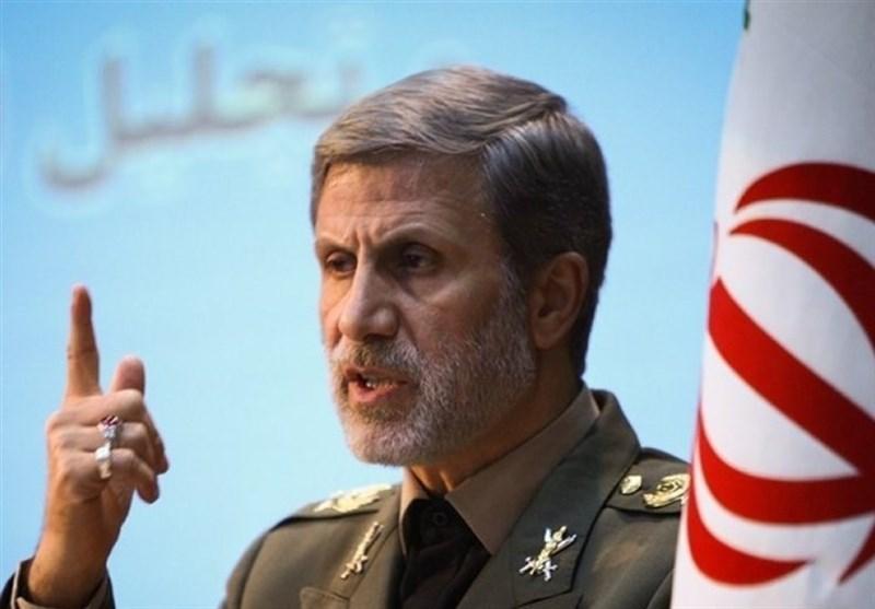 """وزیر الدفاع: استهداف قاعدة """" عین الاسد"""" تم على أعلى المستویات من المواصفات"""