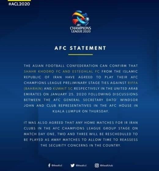 کنفدراسیون فوتبال آسیا (AFC) , فوتبال ایران , لیگ قهرمانان آسیا , فوتبال ,