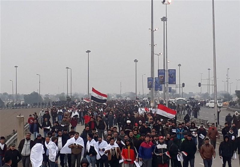 نگاهی به شعارهای متفاوت در تظاهرات میلیونی عراق؛ «شما عمودی وارد شدید، اما افقی خارج خواهید شد»+تصویر