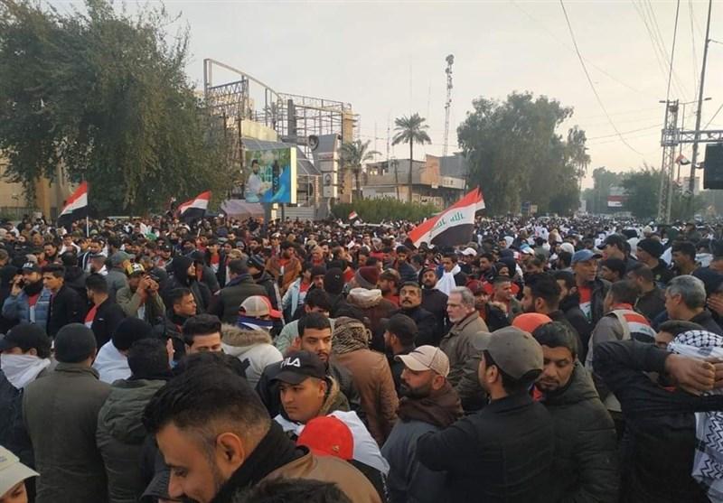 حضور شخصیتهای اهل سنت در تظاهرات میلیونی عراق+فیلم