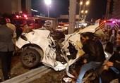 2 کشته و 3 زخمی حاصل تصادف شدید پژو 206 + تصاویر