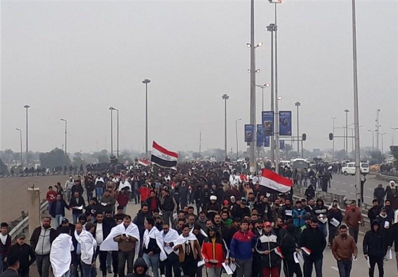 خاص /تسنیم.. بالفیدیو والصور حشود ملیونیة فی بغداد ترفض الوجود الأمریکی