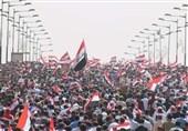 زنجیره انسانی چند کیلومتری تظاهرات میلیونی ضد اشغالگری عراق+فیلم و عکس