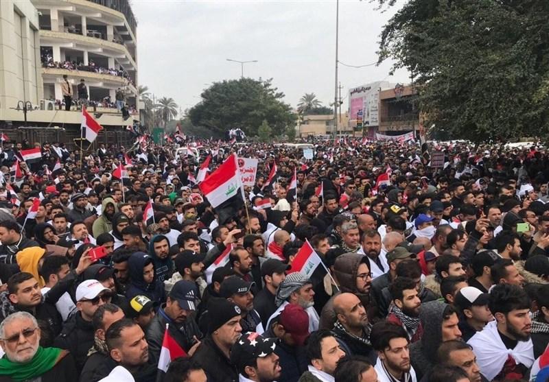 تصاویر هوایی از تظاهرات میلیونی ضد آمریکایی امروز عراق+فیلم