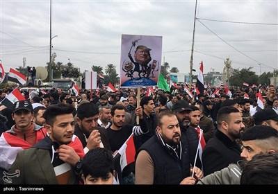 تظاهرة كبيرة وسط بغداد رفضاً لوجود القوات الأمريكية