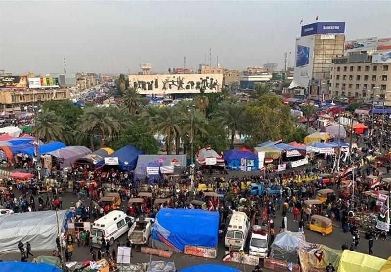 جمع شدن خیمههای معترضان عراقی پس از توئیت سید مقتدی الصدر