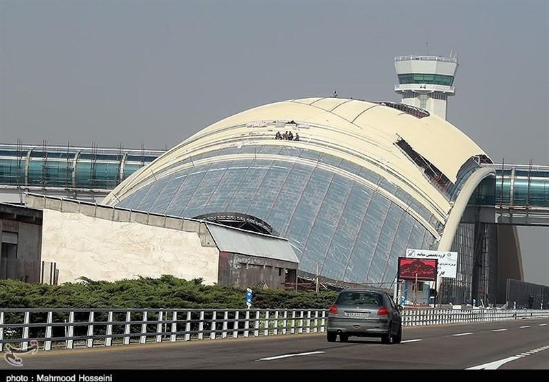 بهره برداری از دستگاه مکانیزه ضدعفونی بار در فرودگاه امام