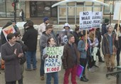 تظاهرات ضدجنگ در مونترال و واشنگتن؛ «ترامپ را عزل کنید»+فیلم