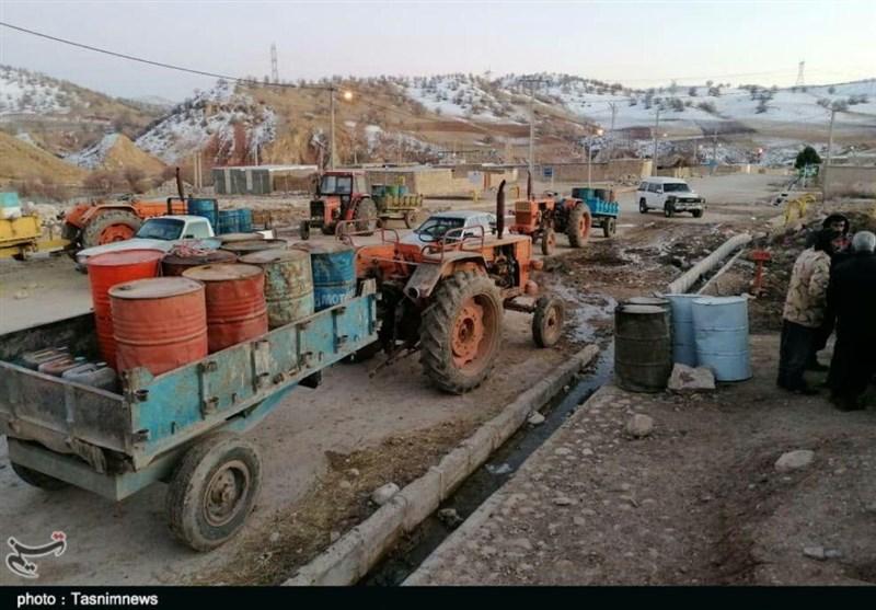 روستاییان پلدختر در بند سرما / کمبود سوخت در برف 20 سانتیمتری + فیلم