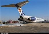 خروج هواپیمای مسافربری تهران - ماهشهر از باند فرودگاه (2)