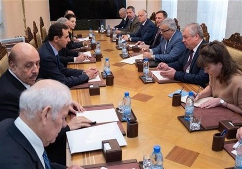 سوریه|دیدار هیئت بلندپایه روسی با بشار اسد