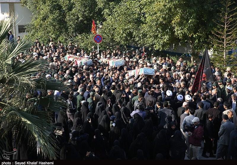 پیکر پاک 3 شهید والامقام سالهای حماسه و ایثار وارد بوشهر شد + فیلم