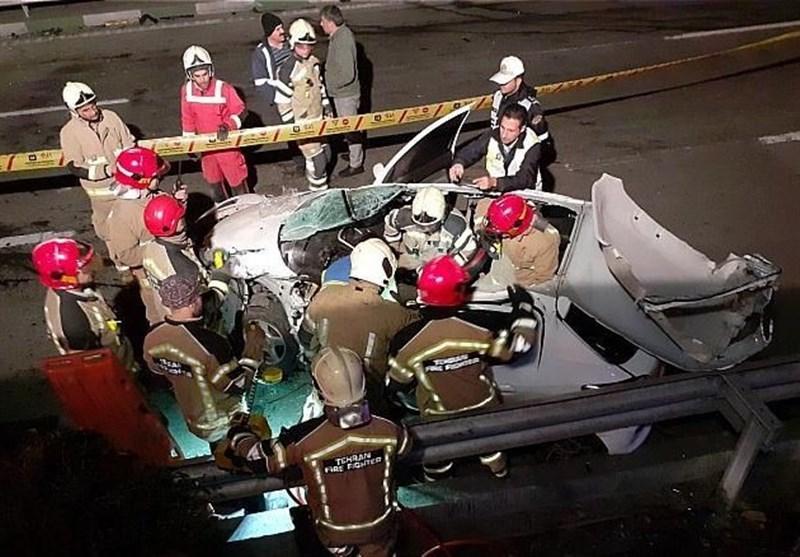 درهم پیچیده شدن اتاقک پژو 206 پس از تصادف شدید + تصاویر