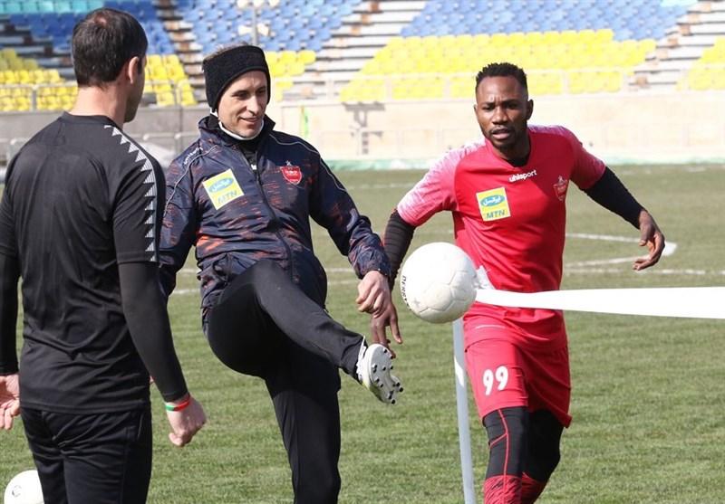 گزارش تمرین پرسپولیس|کریخوانی باقری و گلمحمدی با بازیکنان