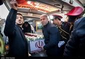 فردین معصومی و حمید سوریان , اعضای اسبق تیم ملی کشتی در مراسم تشییع و خاکسپاری شهید گمنام در خانه کشتی شهید صدرزاده