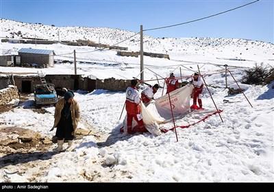 خسارت زلزله در روستای خانه زنیان - فارس