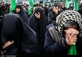 مراسم عزاداری شهادت حضرت زهرا(س) در میدان هفت تیر تهران
