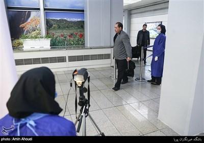 پالایش مسافران ورودی پرواز های چین توسط تیم پزشک مرزی در فرودگاه امام خمینی(ره)