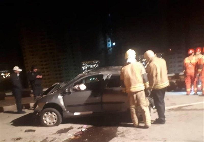 تصادف مرگبار پژو 206 با یک کشته و 2 زخمی در غرب تهران + تصاویر