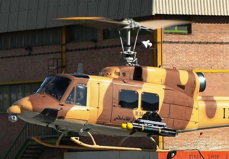 IRGC Choppers Equipped with New Anti-Armor Missile