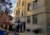ساختمان یک شرکت بیمهای طعمه حریق شد/ نجات 30 نفر + تصاویر