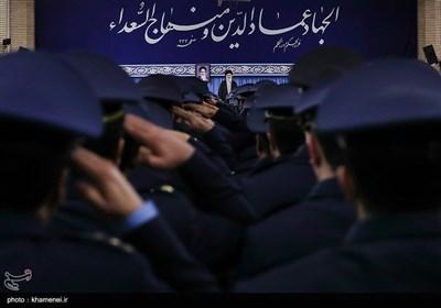 دیدار فرماندهان و کارکنان نیروی هوایی ارتش با رهبر معظم انقلاب