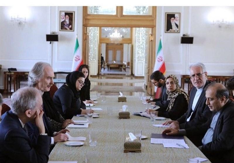 دیدار نماینده سازمان ملل در امور سوریه با دستیار ارشد ظریف