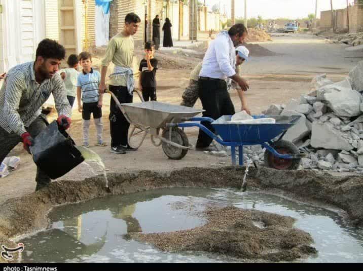 خشت همدلی گروههای جهادی در مناطق سیلزده لرستان و خوزستان 1