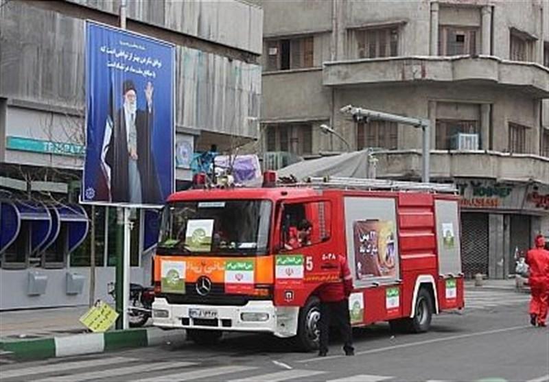 تهران| استقرار 280 آتشنشان در 110 نقطه از مسیرهای راهپیمایی 22 بهمن