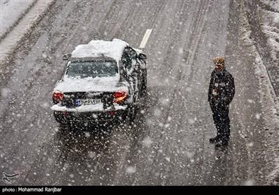 بارش برف سنگین در رشت