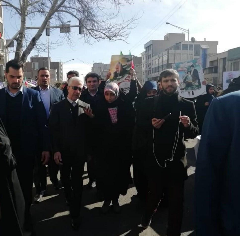 راهپیمایی22بهمن , دهه فجر انقلاب اسلامی , منصور غلامی , حجت الاسلام مصطفی رستمی ,