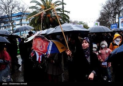 راهپیمایی 22 بهمن در ساری