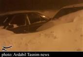 ارتفاع برف در شهرستان خلخال به بیش از 4 متر رسید؛ سقوط بهمن در برخی از نقاط کوهستانی