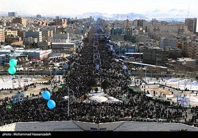 مشاهد جویة لمسیرات انتصار الثورة الاسلامیة