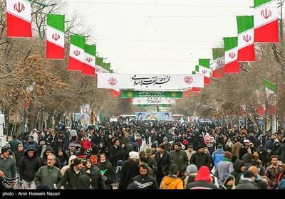راهپیمایی ۲۲ بهمن در قزوین