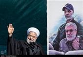 حجتالاسلام حسن روحانی رئیس جمهور در مراسم یومالله 22 بهمن در تهران - میدان آزادی