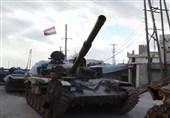 پدافند هوایی ارتش سوریه با اهداف مهاجم مقابله کرد
