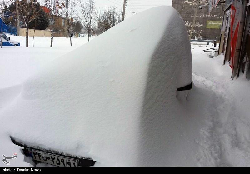 بارش برف سنگین در خلخال